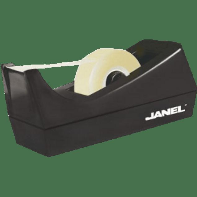 Despachador para rollos 33 mm color negro, base plástica