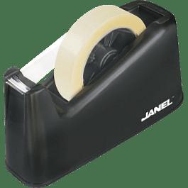 Despachador para rollos 65 mm color negro, base plástica