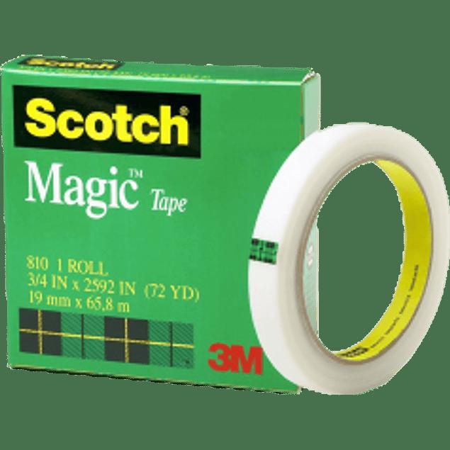 Cinta mágica empaque 810 medidas 19 mm x 65.8 m.