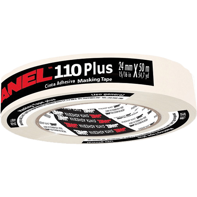 Cinta masking tape modelo 110 de 24 mm. x 50 mts