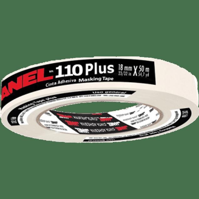 Cinta Adhesiva Masking Tape modelo 110, medida 18 mm x 50 m.