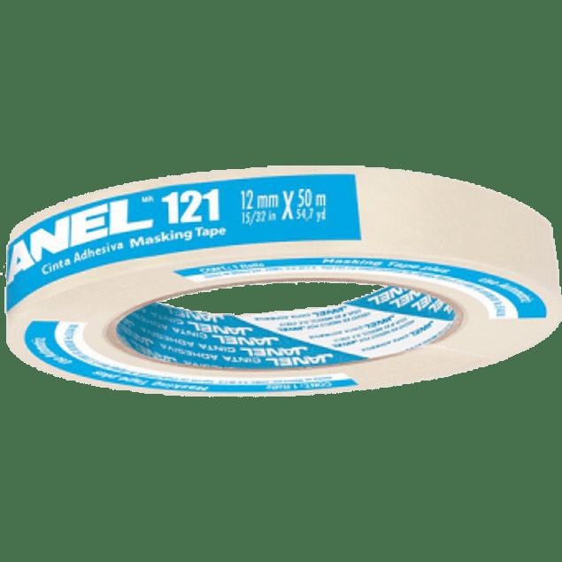 Cinta Adhesiva Masking Tape modelo 121 medida 12 mm x 50 m.