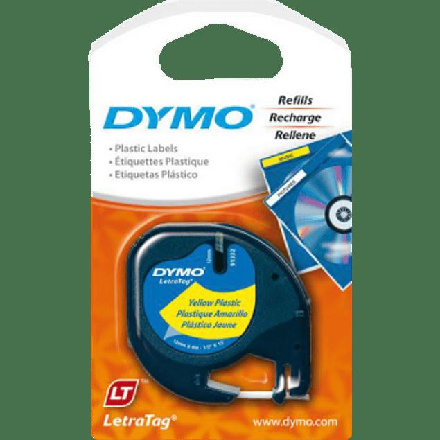 Cinta para Dymo Letratag color amarillo plastificada