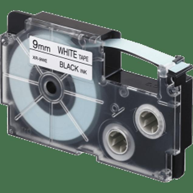 Cinta para rotulador color negro y transparente, medida  9 mm
