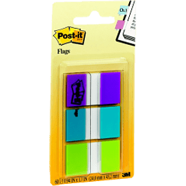 Banderitas Adhesivas Flags, 3 colores con 20 piezas