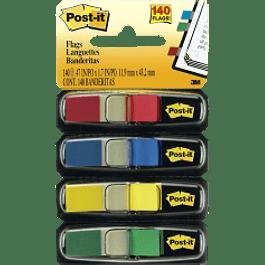 Mini Banderitas, con 4 diferentes colores primarios por despachador.