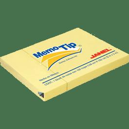 Nota Adhesiva Removible color amarillo medidas 5.04 x 7.56 cm.