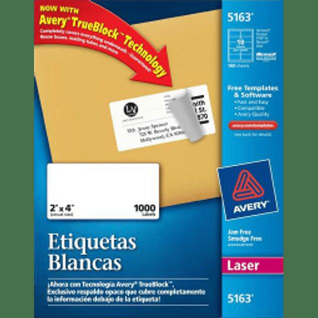 Etiquetas Adhesivas color blancas medidas 2
