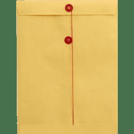 Sobre Bolsa color Manila con hilo, tamaño carta