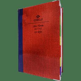 Libro Florete Actas, forma francesa, de 192 hojas.