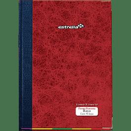 Libro de Contabilidad, tipo florete rayado, forma francés, de 96 hojas.