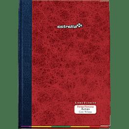 Libro Florete Actas forma francesa rayado,  de 96 hojas