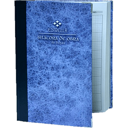 Cuaderno de Bitácora de obra, de 96 hojas.