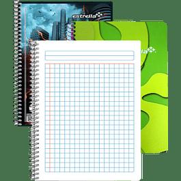 Cuaderno Forma Francesa, cuadro chico de 5 mm, de 100 hojas