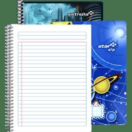 Cuaderno Forma Francesa de raya, de 100 hojas.
