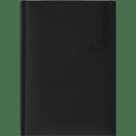 Libreta Ejecutiva color negro imitación piel, de raya.