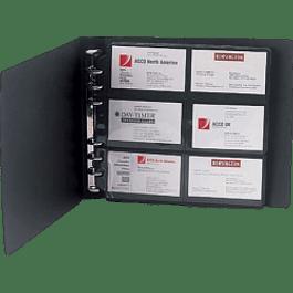 Tarjetero Polipropileno color negro para 120 tarjetas