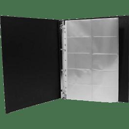 Tarjetero de polipropileno color negro para 400 tarjetas