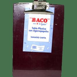 Tabla de plástico con broche agarra papel tamaño carta
