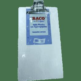 Tabla de plástico transparente tamaño oficio
