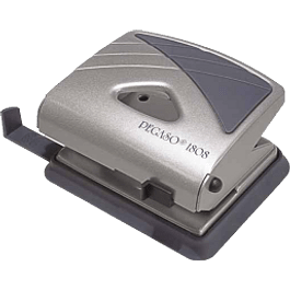 Perforadora estándar de acero, de 2 orificios con capacidad 25 hojas.