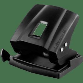 Perforadora de metal color negro de 2 orificios.