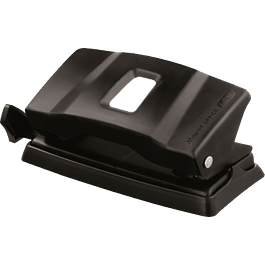 Perforadora Mod 40111 de 2 orificios color negro, regleta ajustable.