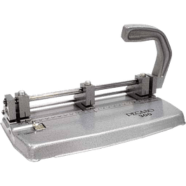 Perforadora 3 orificios, Mod Pegaso 300, color gris, capacidad 20-25 hojas.
