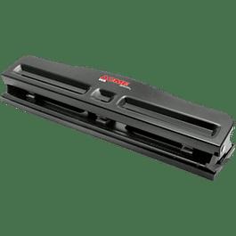 Perforadora 3 orificios y triple ajustable.
