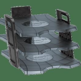Charola Modular de escritorio 3 niveles, medida 26.5 cm x 36.5 cm.