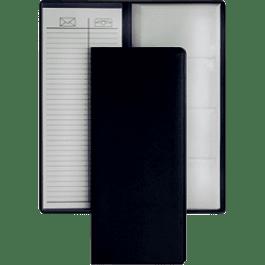 Tarjetero vinil color negro para 96 tarjetas.