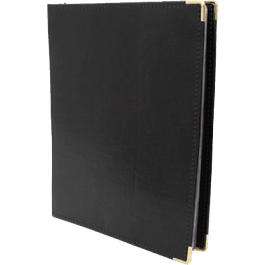 Tarjetero Ejecutivo color negro, capacidad para 200.