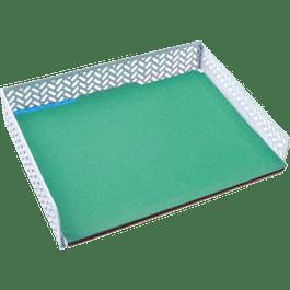 Charola para documentos tamaño carta color blanco zigag.