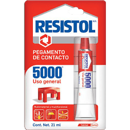 Pegamento de contacto, color amarillo, tipo 5000, de 21 ml.