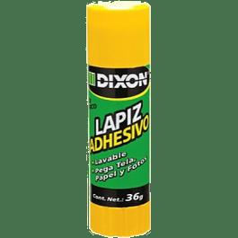 Lápiz Adhesivo color blanco en barra de 36 gramos.