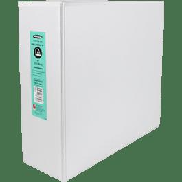Carpeta de vinil tamaño carta color blanca panorámica