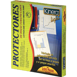Protector de hojas tamaño carta, color transparente opaco, caja con 200 piezas