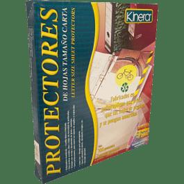 Protector de hojas tamaño carta color transparente, caja con 100 piezas