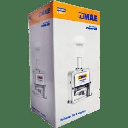 Foliador metálico/plástico semiautomatico de 8 dígitos