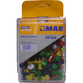 Push pins, caja con 100 piezas