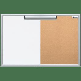Pizarrón de 90 x 120 cm mixto (blanco y corcho)