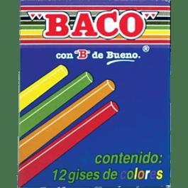 Gises de varios colores con 12 piezas