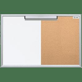 Pizarrón de 40 x 60 cm mixto (blanco y corcho)