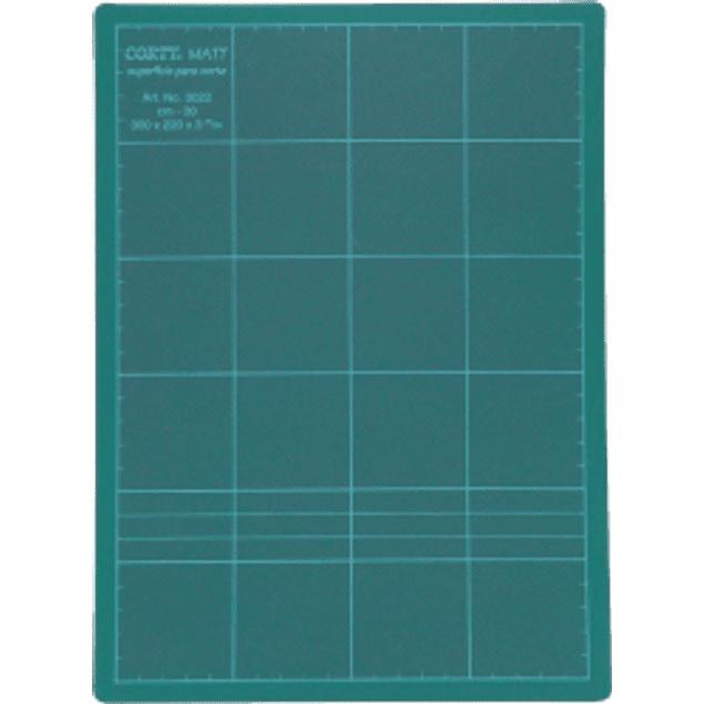 Tabla para corte color verde de 30 x 22 cm.