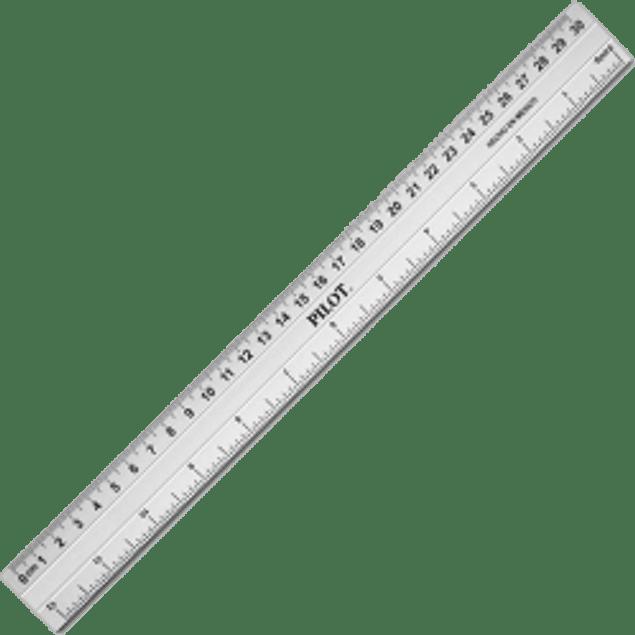 Regla de aluminio adonizado y templado,. de 30 cm.