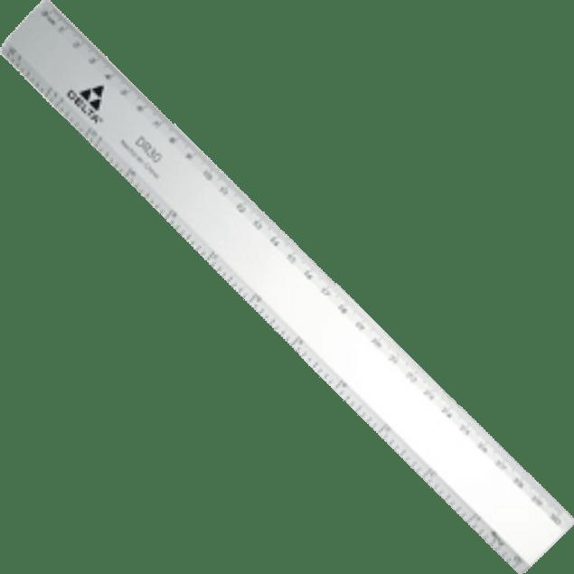 Regla de aluminio de 30 cm