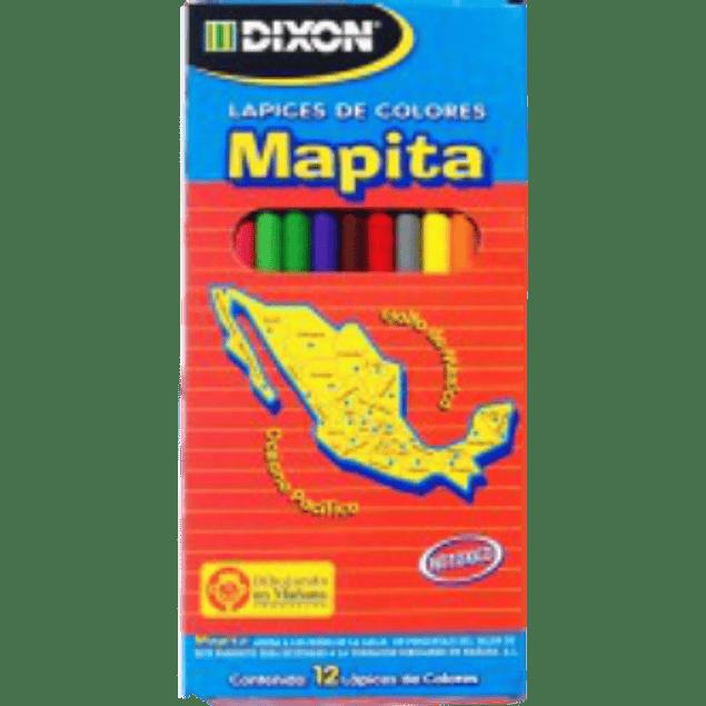 Colores largos varios tonos, caja con 24 lapices