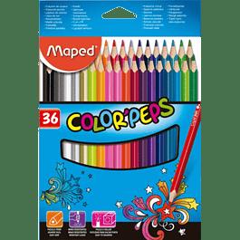 Colores largos peps con 36 piezas