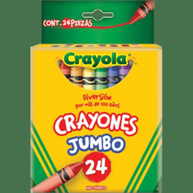 Crayolas forma regular con 24 piezas Jumbo