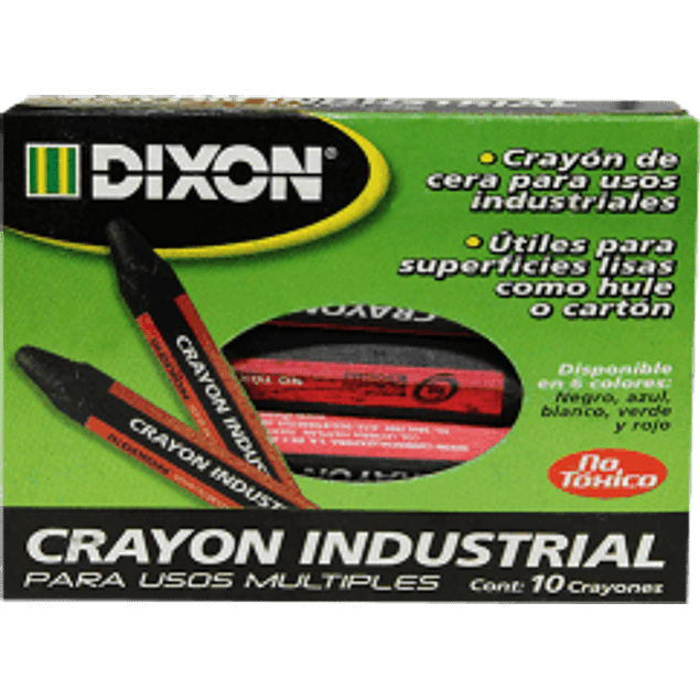 Crayón industrial caja con 10 piezas